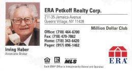 Irving Haber Realtor Card smaller
