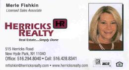 Merle Fishkin Realtor Card smaller
