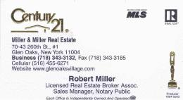 Robert Miller Realtor Card smaller